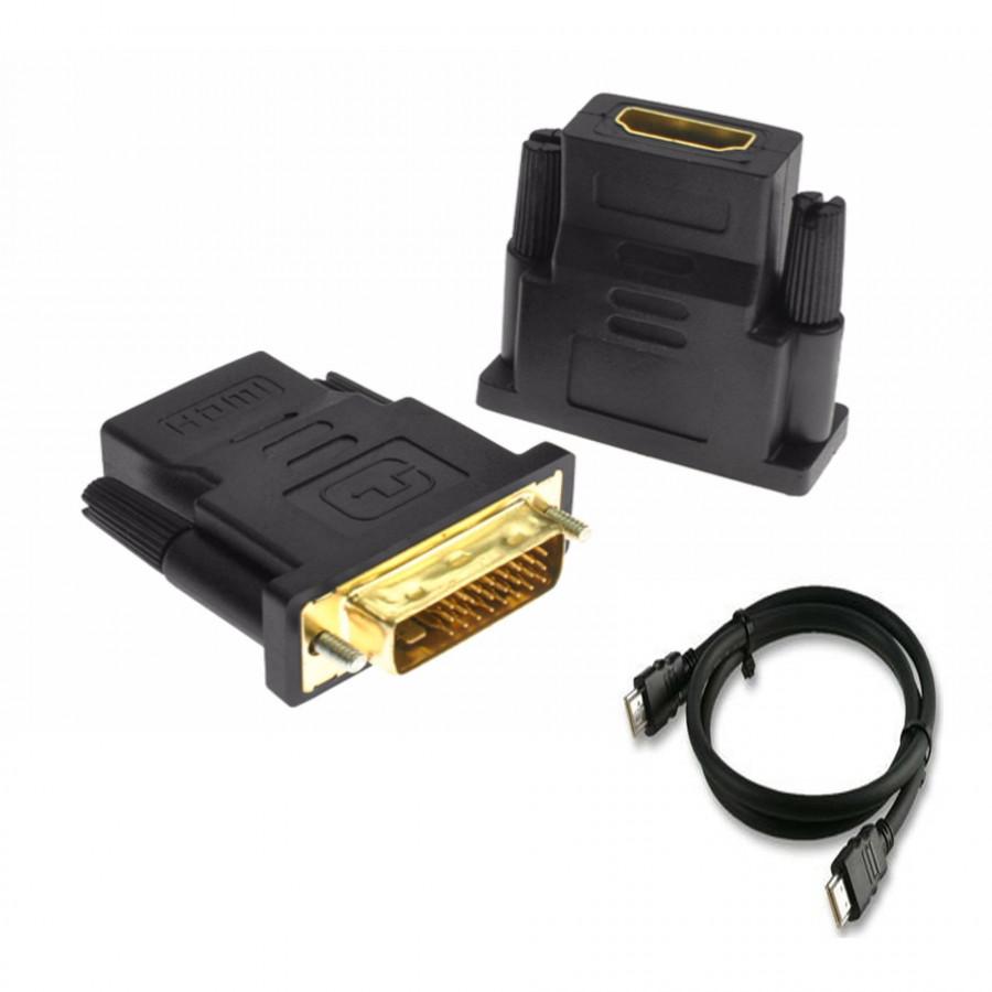 Đầu chuyển DVI (24+1) sang HDMI + Tặng kèm cáp HDMI 1.5M