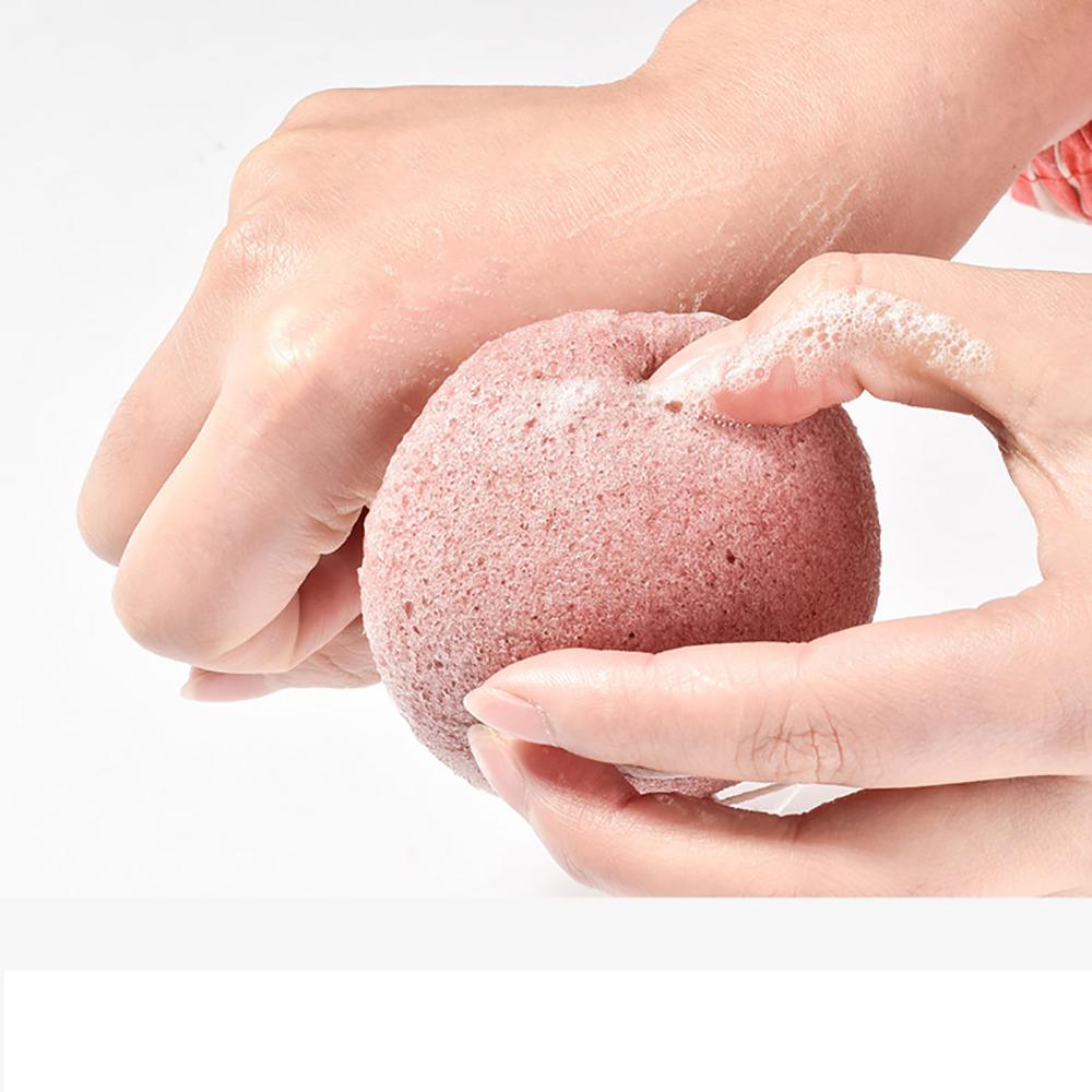 Mút rửa mặt Konjac Nhật Bản, hiệu quả làm sạch da, tẩy trang, mát xa, tẩy tế bào chết MINISO NATURAL KONJAC CLEANSING SPONGE chính hãng màu hồng nhạt – MNS082
