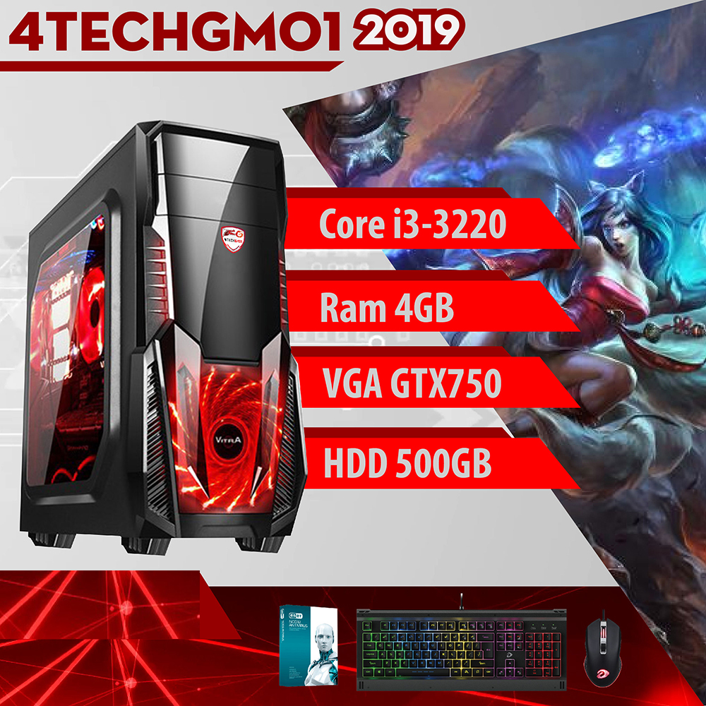 Bộ Máy Tính Chơi Game 4TechGM-2019 & Màn- Hàng Chính Hãng.