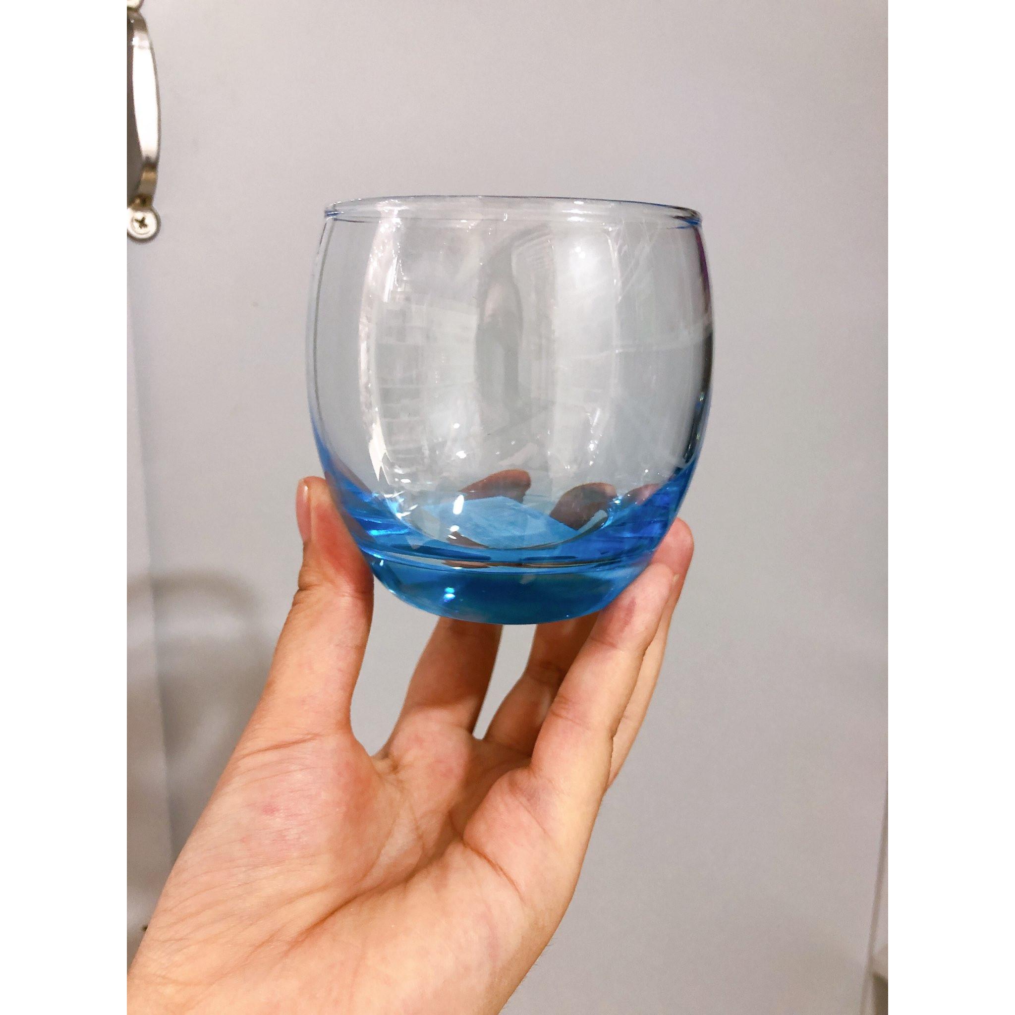Ly cốc thủy tinh Luminarc xanh dương cao cấp vuông ngắn 300ml
