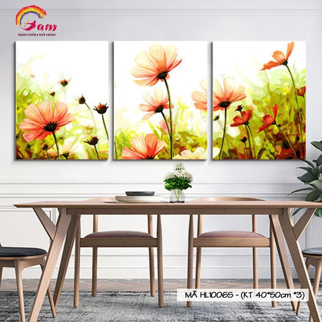Bộ tranh sơn dầu số hóa tô màu theo số Gam Mã HL1006S Sao nhái đồng nội hoa dại