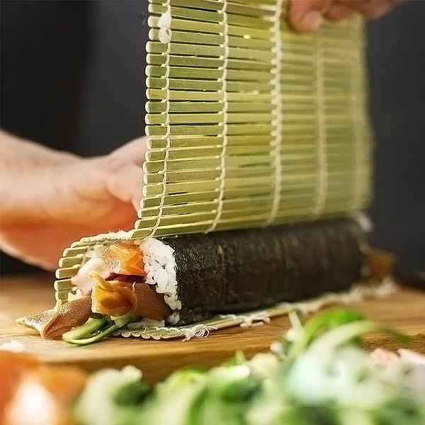 Mành tre cuộn Sushi cao cấp chống mốc nội địa Nhật Bản (cỡ to)