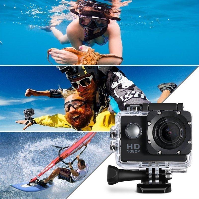 Camera Hành Trình ô tô, xe máy chất lượng 1080 Sports chống nước tuyệt đối đầy đủ phụ kiện gắn mũ bảo hiểm hoặc tay xe