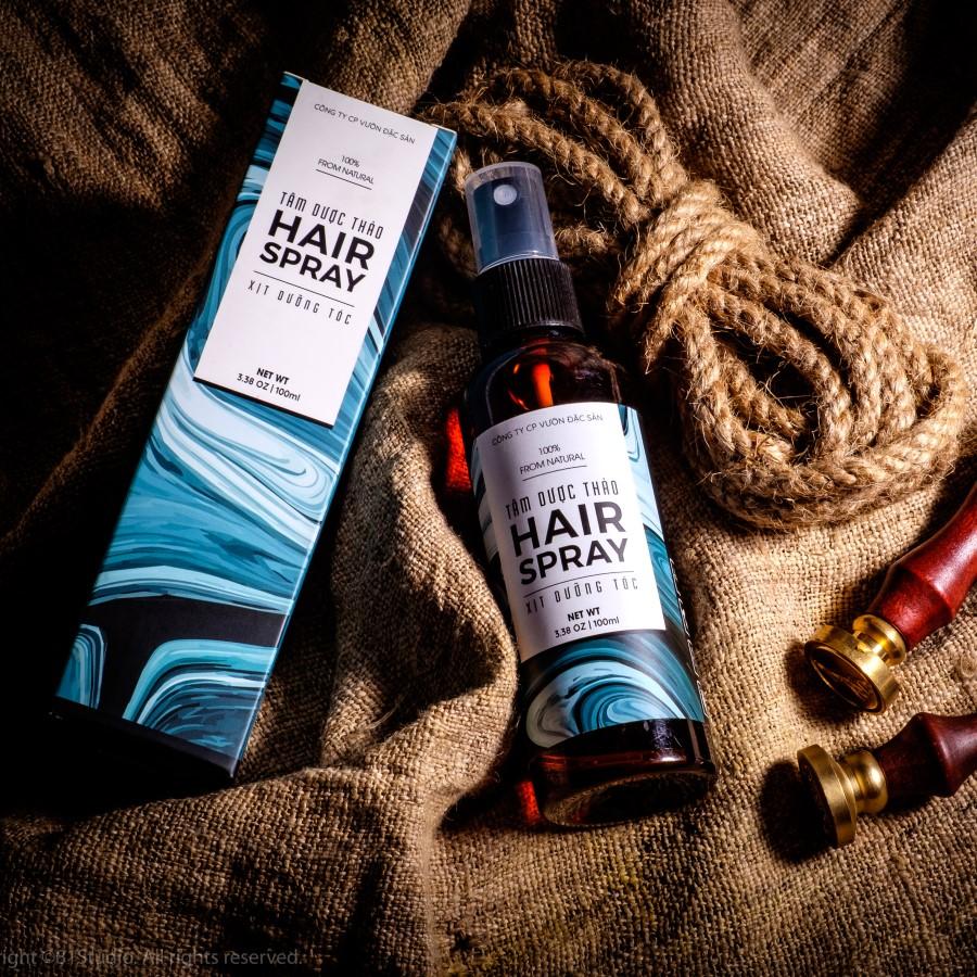 Xịt dưỡng tóc Tâm Dược Thảo 100ml (100% tự nhiên) + Tặng kèm 01 Xà bông thảo dược (Tùy chọn trong 05 loại)