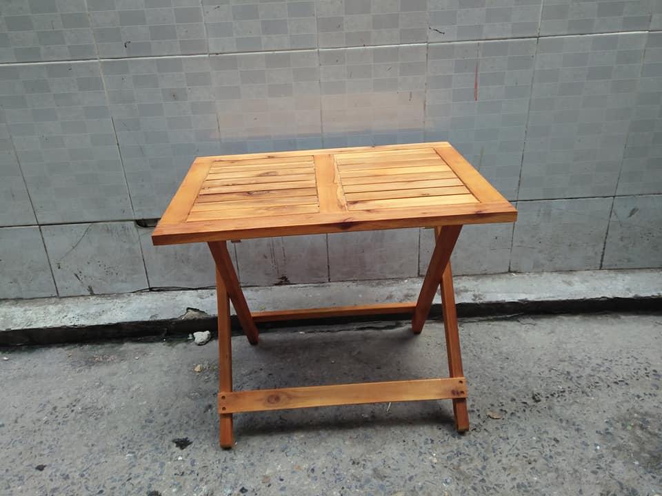 Bàn cafe, bàn ăn mini hình chữ nhật gấp gọn