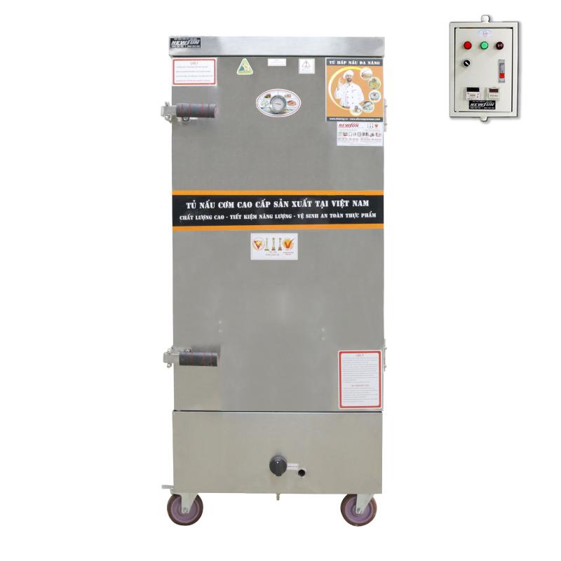 Tủ Nấu Cơm 60 Kg Gạo/ Mẻ Bằng Điện Gas 12 Khay NEWSUN - Hàng Chính Hãng