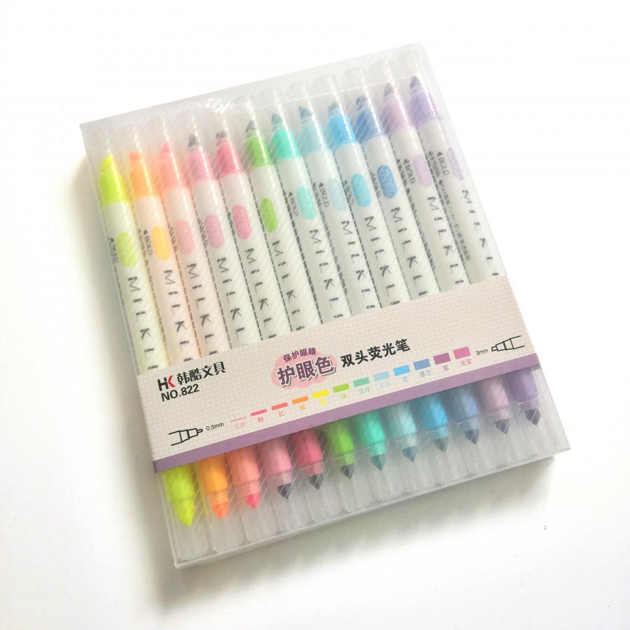 Bộ bút dạ vẽ nghệ thuật HK Milkliner 12 Màu da dụng chất lượng cao PEN001