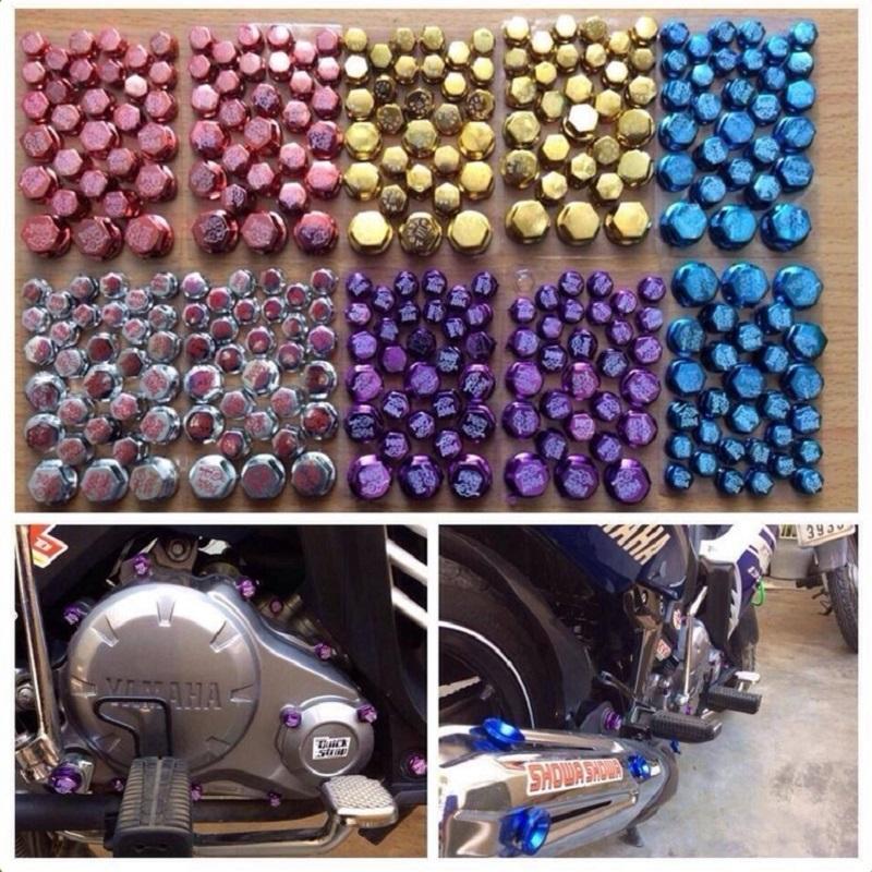 Chụp ốc trang trí xe máy ( Màu ngẫu nhiên)