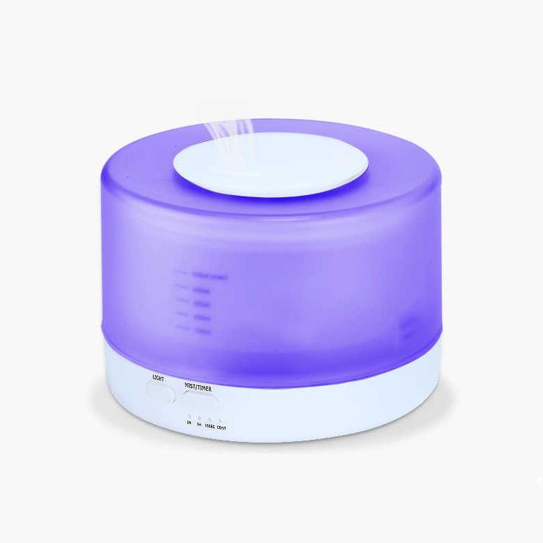 Máy khuếch tán xông tinh dầu phun sương tạo ẩm làm đèn ngủ công suất mạnh kiêm đèn ngủ trụ trong - Tặng kèm set 6 tinh dầu thiên nhiên nhập khẩu
