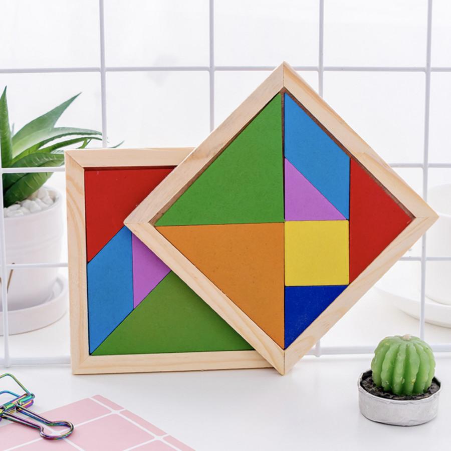 Bộ đồ chơi ghép hình bằng gỗ cho bé - Bộ đồ chơi ghép hình 17 mẫu ghép độc đáo