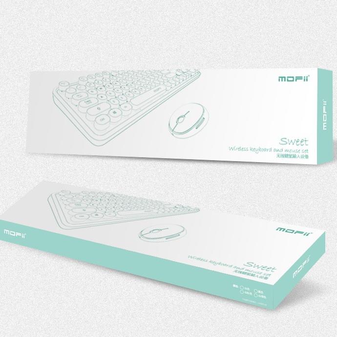 Bộ bàn phím chuột không dây Mofii Sweet - Hàng chính hãng
