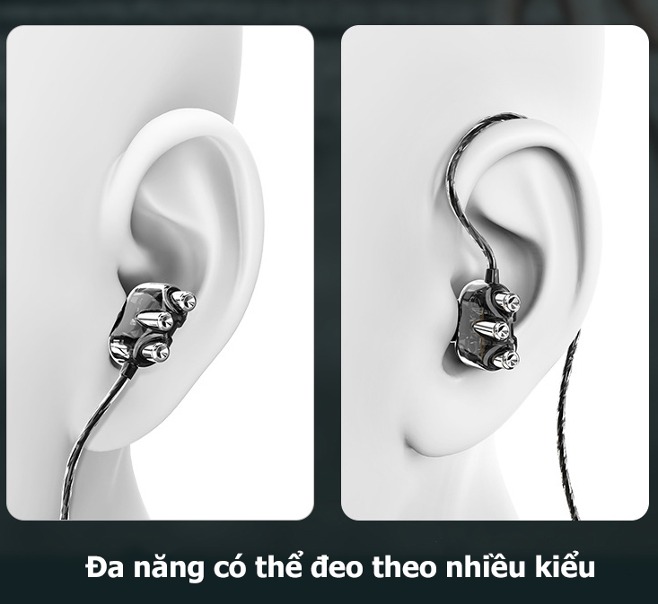 Tai Nghe Nhét Tai Chống Ồn A6 PRO Super BASS Thiết Kế Mới Âm Thanh Cực Đã - Hàng chính hãng
