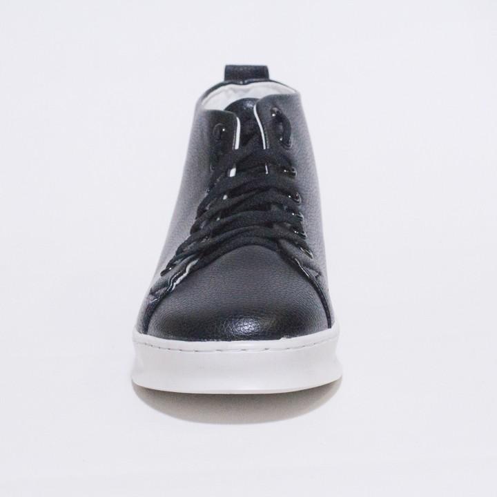 Giày Thể Thao Nam Cổ Lửng Màu Đen Đế Khâu Chắc Chắn Rất Năng Động - T447-DEN(T)-DEN