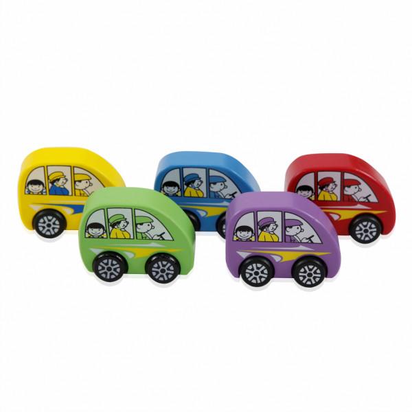 4 xe mô hình đồ chơi family bằng gỗ – 11240
