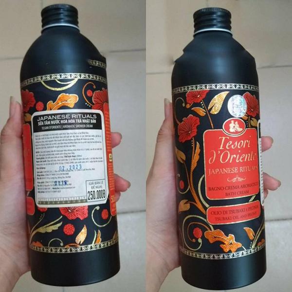 Sữa tắm hương nước hoa Hoa Trà Nhật Bản Tesori D' Oriente Japanesne Rituals 500ml + Móc khóa