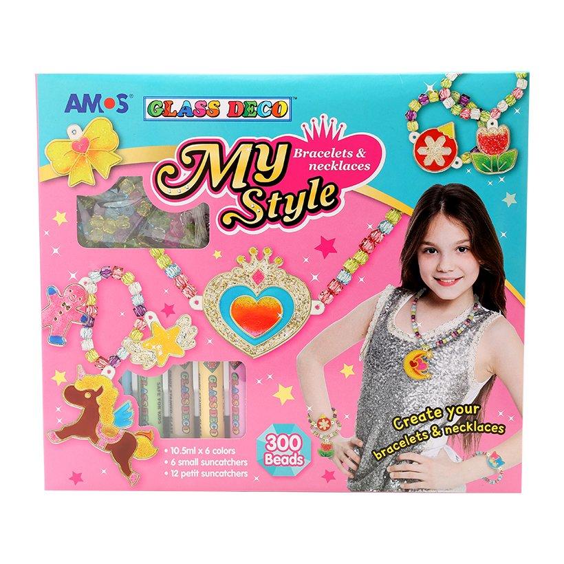 Màu Vẽ Trang Trí Amos Glass Deco My Style Bracelets & Necklaces SD10P6-MSB