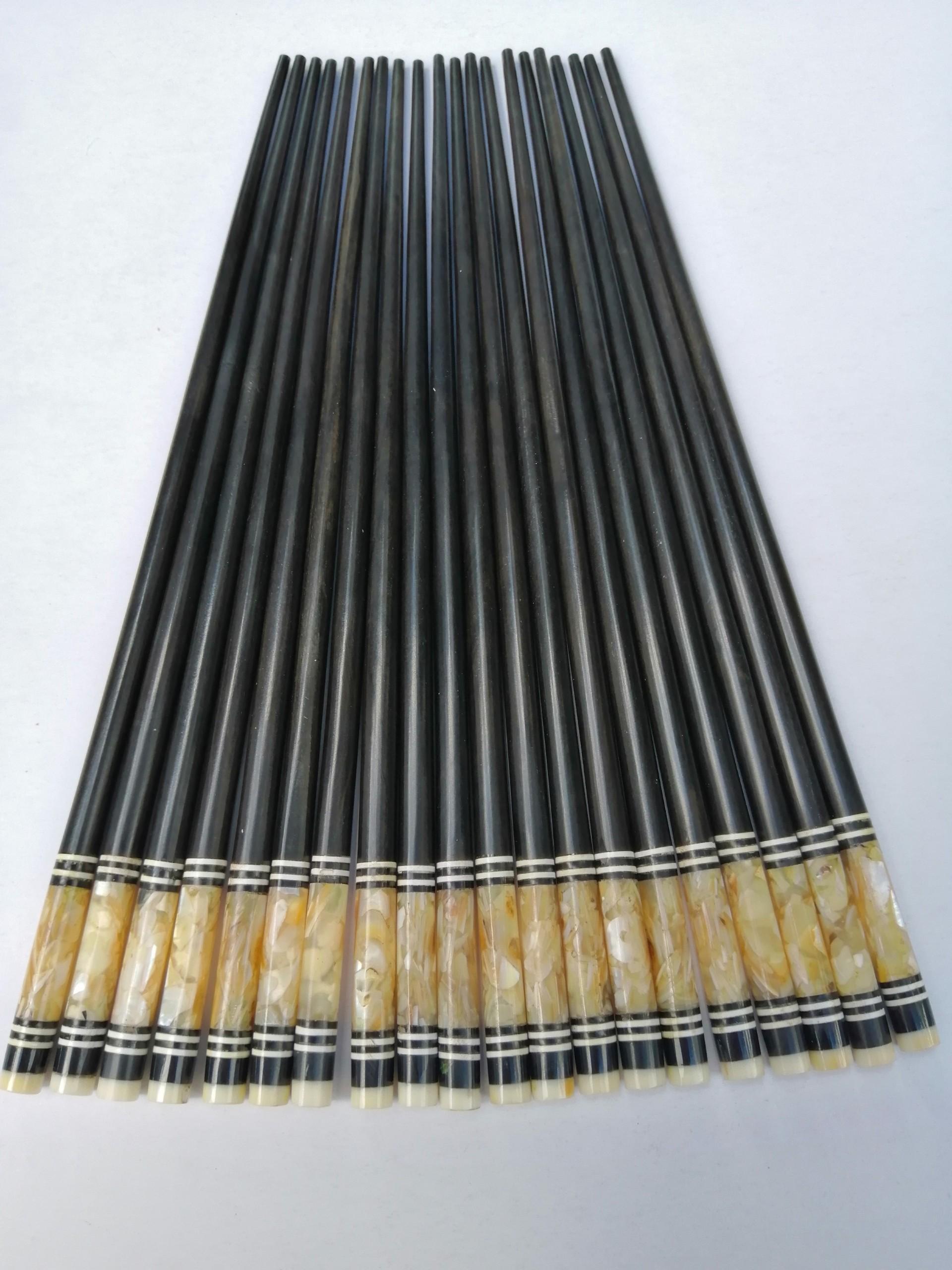 Đũa Gỗ Mun Khảm Trai - Đồ Gỗ Thủ Công Mỹ Nghệ Cao Cấp Thương Hiệu Trường Sơn (10 Đôi / Hộp)