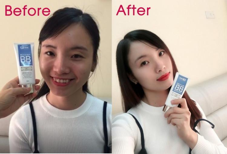 Kem trang điểm trắng da không nhờn Benew Magic Snow White Hàn Quốc 50ml Tặng Móc khoá 2