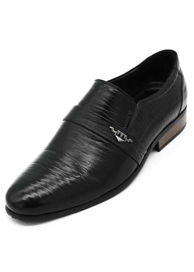 Giày Tây Nam Thủ Công Da Bò Thật K&T Black - GKT1307-01