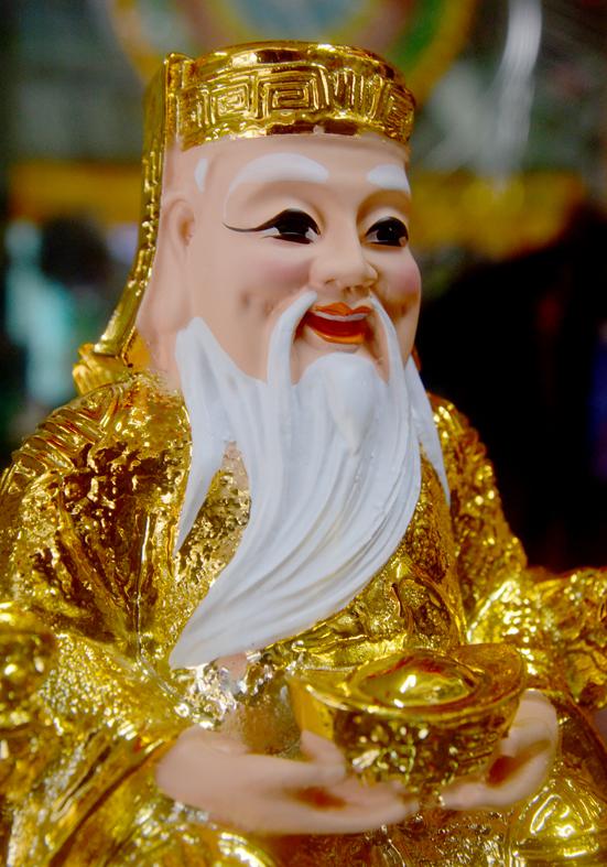 Bộ tượng hai ông Thần Tài Thổ Địa kim sa-Nhiều cỡ
