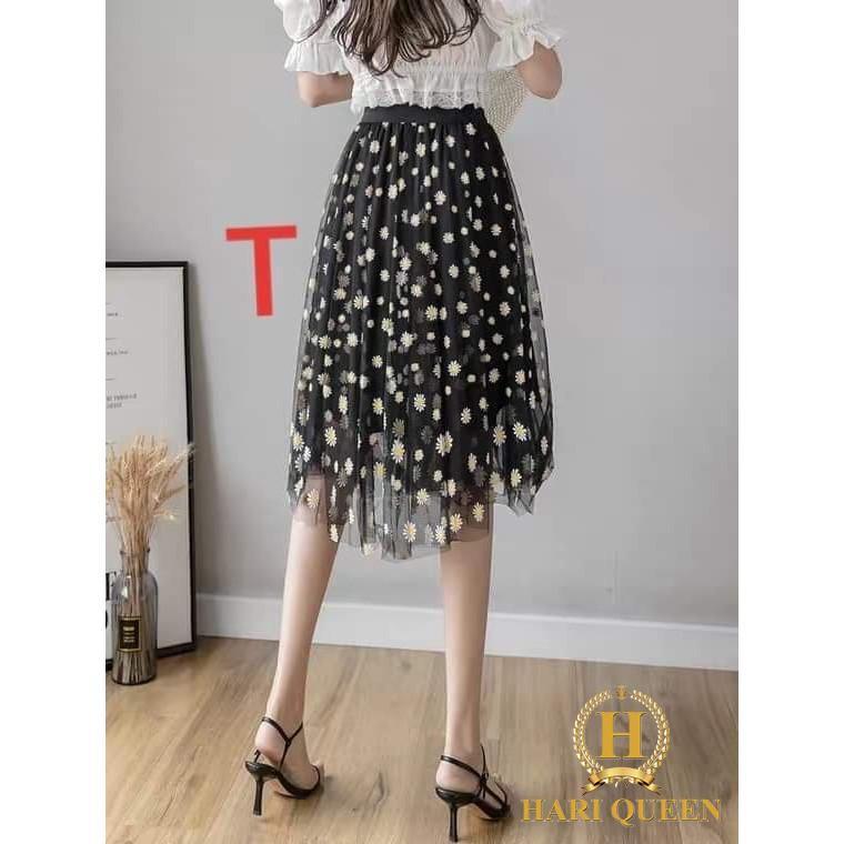 Chân váy hoa cúc 3 tầng DTR0720