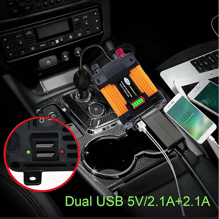 Thiết bị Biến áp ô tô 4000w-6000w DC12V sang 220V 2-E7-L1-2896-2020