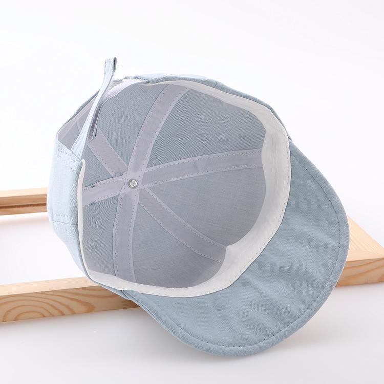 Mũ/Nón Lưỡi Trai Cotton Hình Gấu Có Miếng Dán Điều Chỉnh Vòng Đầu Dành Cho Bé Từ 0 - 2 Tuổi