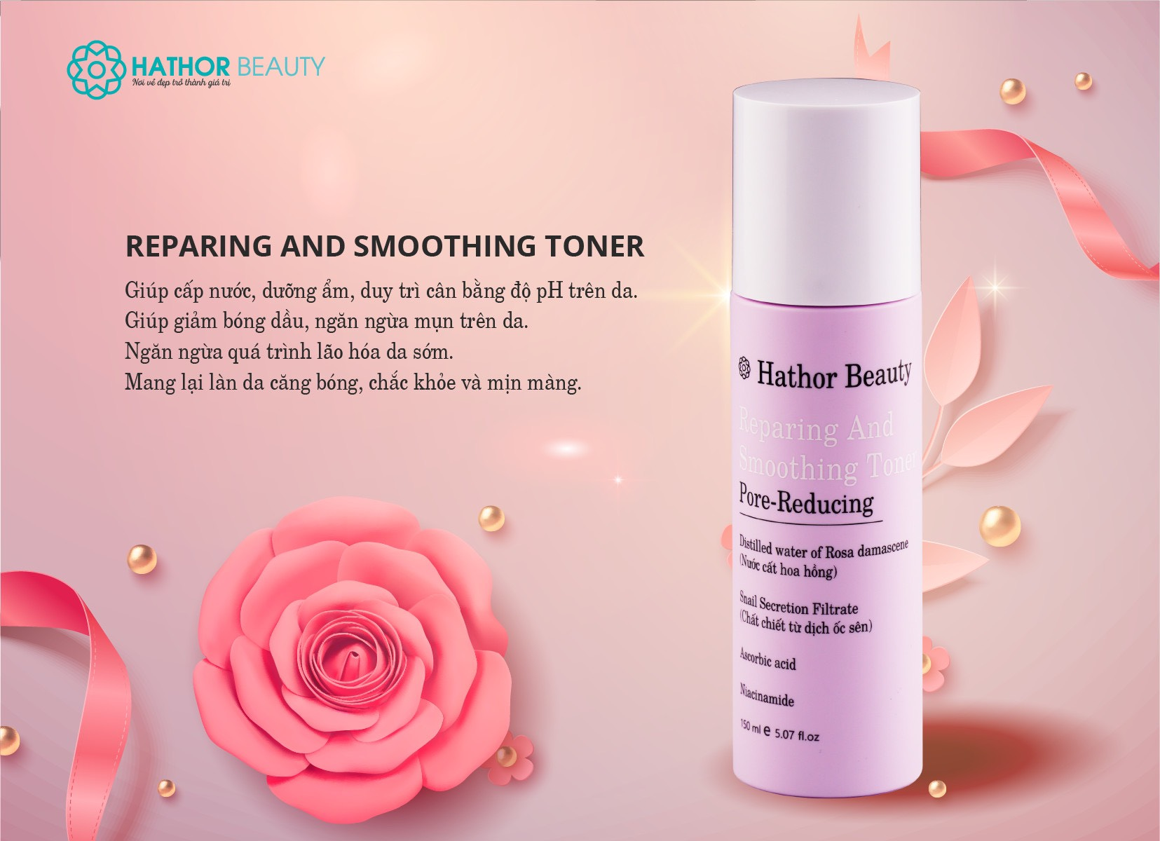 Reparing And Smoothing Toner Hathor Beauty 150ml