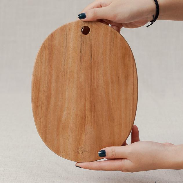 Thớt oval gỗ beech (24x18cm)
