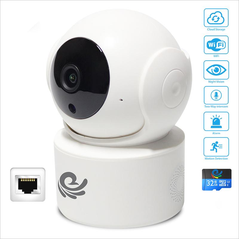 [ KÈM THẺ 32GB ] Camera IP An Ninh Chống Trộm Trong Nhà - Độ Phân Giải 2.0Mpx - 1080P - Có Đàm Thoại 2 Chiều - Hú Báo Động - Xem Cùng Lúc 4 Camera - Hàng Chính Hãng