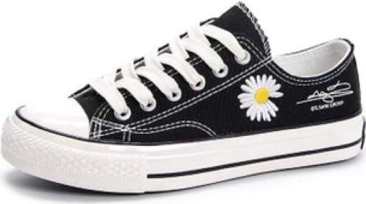 Hình ảnh Giày nữ thấp cổ thêu hoa cúc siêu đáng yêu