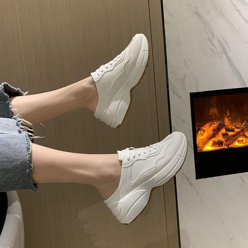 Giày sục nữ HAPU sneaker GC siêu hot trend mới nhất 2021 ( Trắng )
