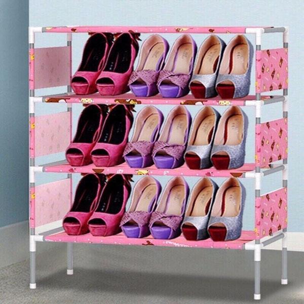 Kệ giày dép thanh inox bền đẹp 4 tầng