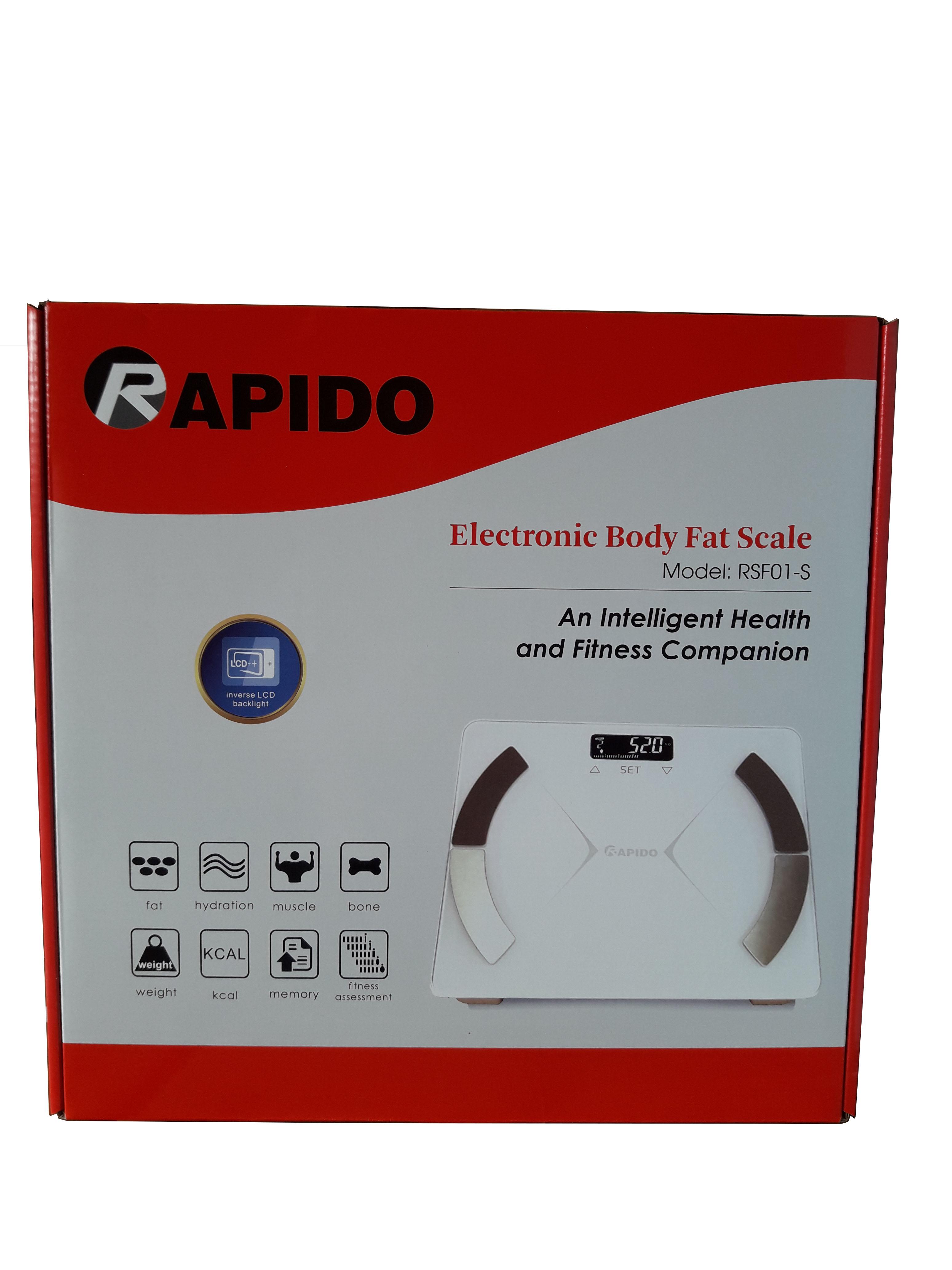 Cân sức khỏe phân tích chỉ số cơ thể Rapido RSF01