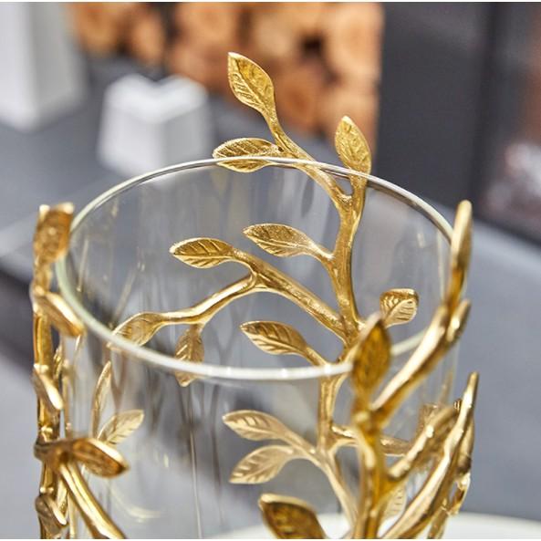 Bình hoa trong suốt họa tiết hoa tinh tế mang phong cách tân cổ điển sang trọng BH18-S