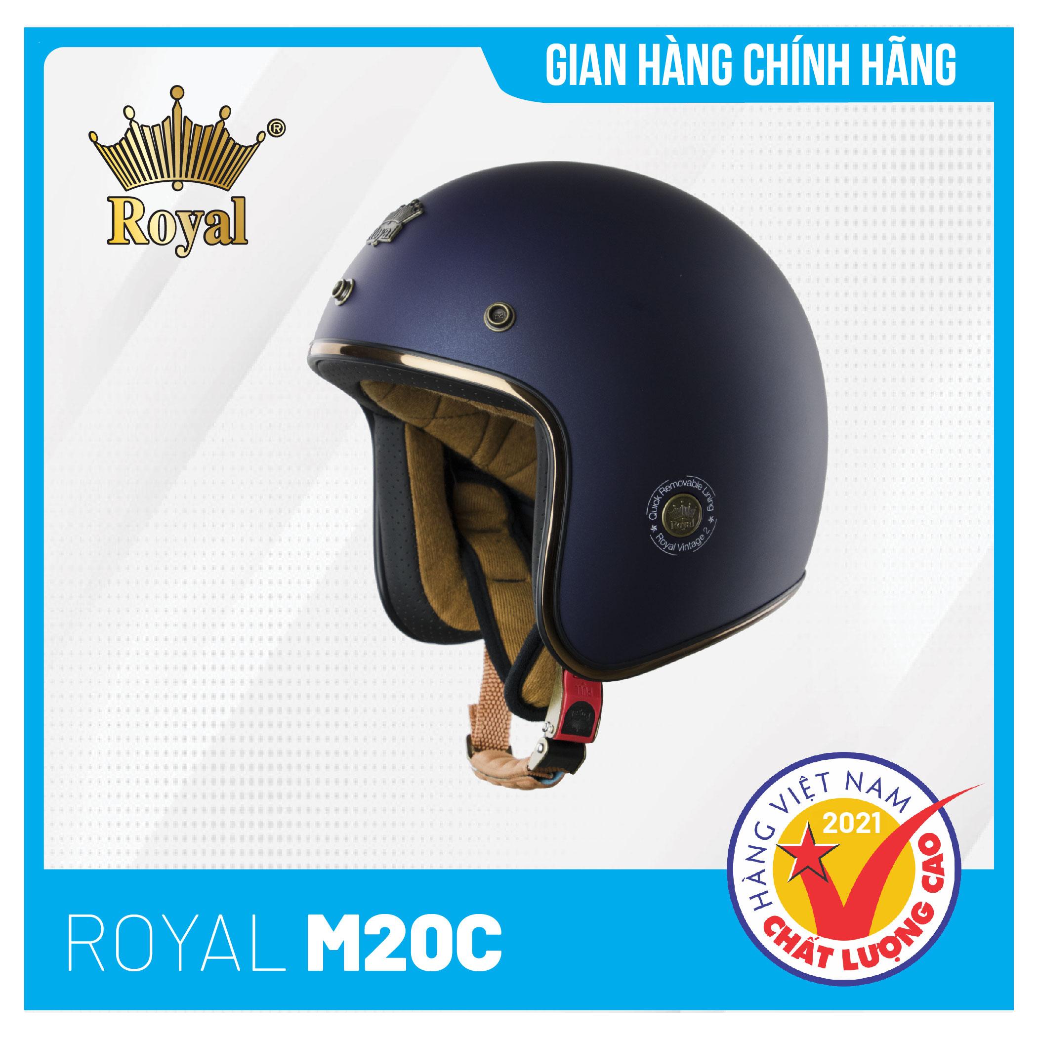 Hình ảnh Nón bảo hiểm 3/4 Royal M20C