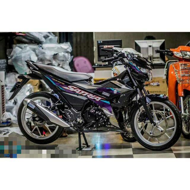 Tem crom rời dành cho xe máy Satria FI (bộ)
