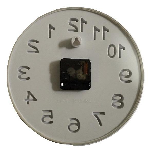 Đồng hồ treo tường kim trôi cao cấp Quartz Mini Silver