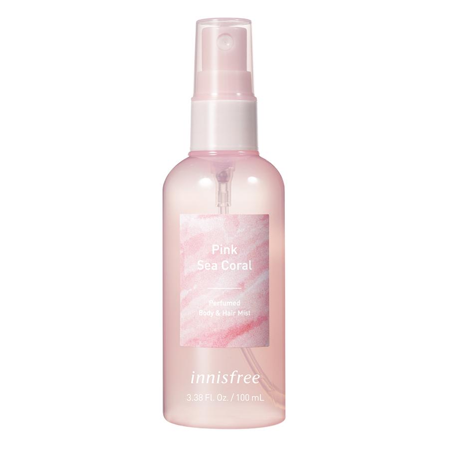 Xịt Thơm Toàn Thân Hương Pink Sea Coral Innisfree Perfumed Body & Hair Mist Pink Sea Coral 100ml - 131170867