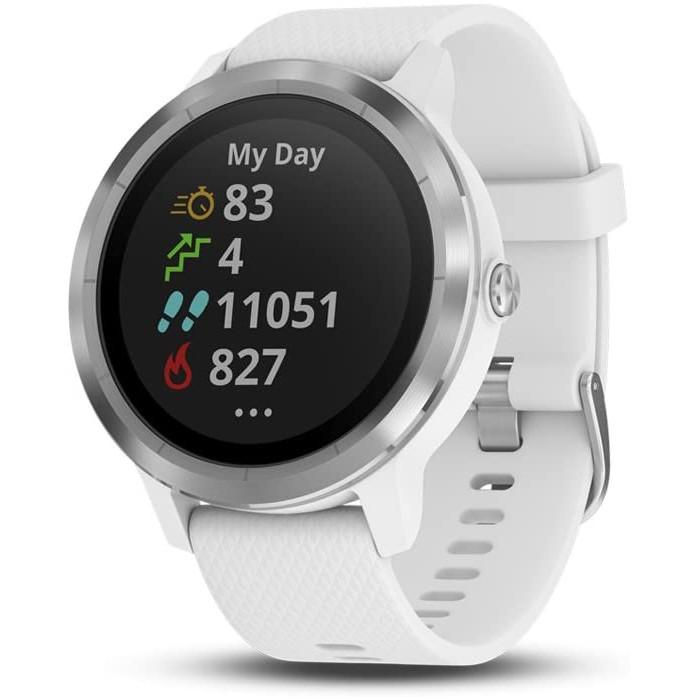 Đồng hồ thông minh Garmin Vivoactive 3 Trắng - Hàng nhập khẩu