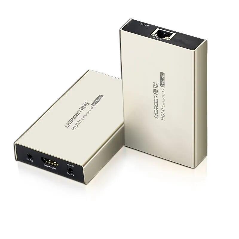 Bộ nhận tín hiệu HDMI qua cáp mạng Lan 120m Ugreen GK40280 -  phải mua thêm bộ phát mã 40283 mới dùng được  - Hàng chính hãng