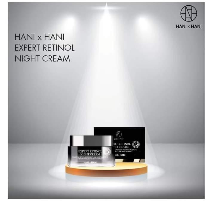 Kem  Dưỡng Da Chống Lão Hóa Ban Đêm Hani x Hani 50G/ Hani x Hani Expert Retinol Night Cream 50G