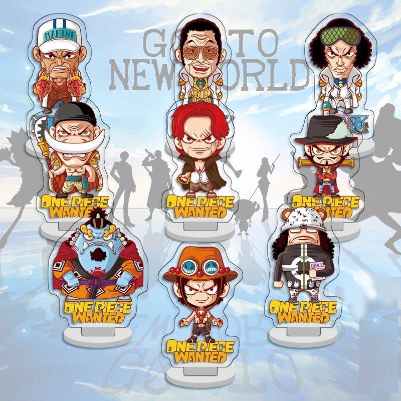 Bộ 9 mô hình standee One Piece Kimetsu no Yaiba Naruto anime chibi (mica trong acrylic)