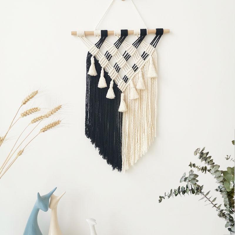 Rèm Trang Trí Tường Macrame Acescor BWM01- Sản Phẩm Handmade, Sang Trọng, Độc Đáo, Làm Quà Tặng Tân Gia, Sinh Nhật, Đám Cưới