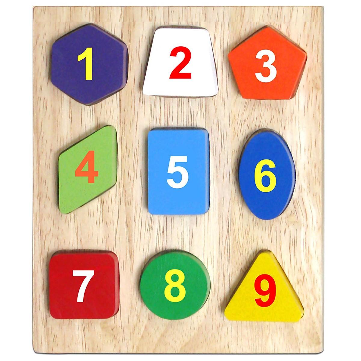 Bộ Xếp 9 Hình Mk - Đồ chơi gỗ