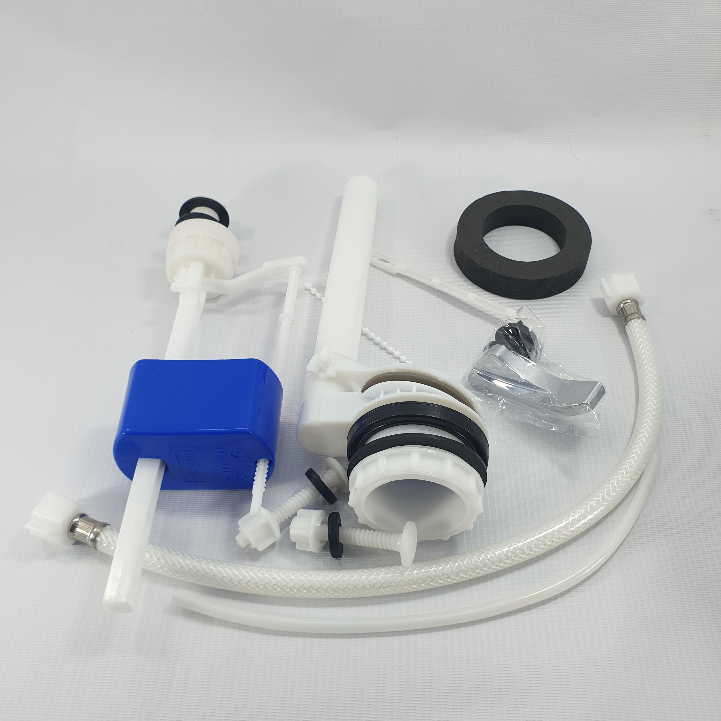Bộ ruột xả gạt ngang thay thế cho bồn cầu, lắp mọi bồn cầu két rời - Nhựa ABS đẹp cao cấp
