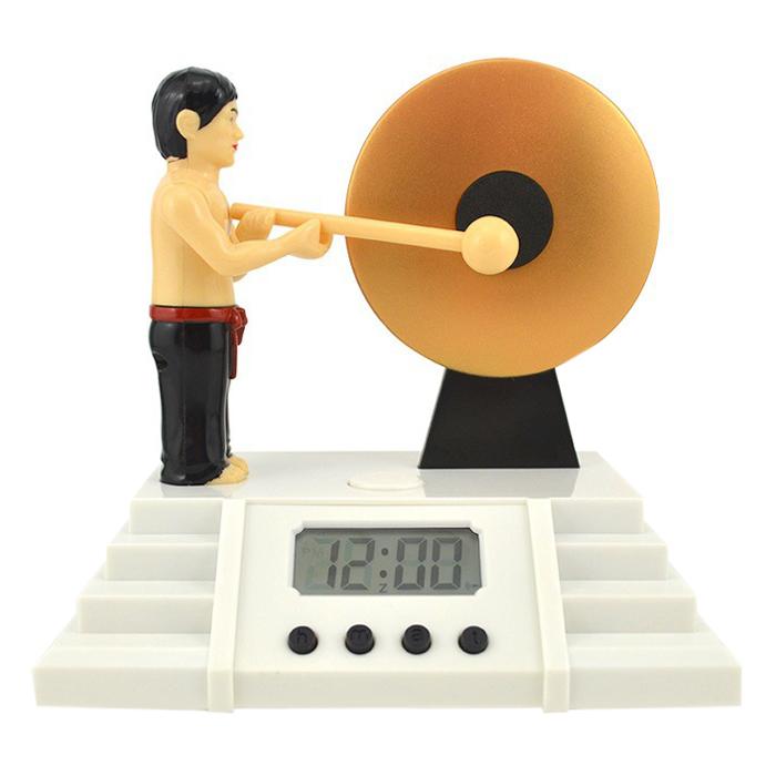 Đồng Hồ Báo Thức Đánh Chiêng - Knock The Gong Clock