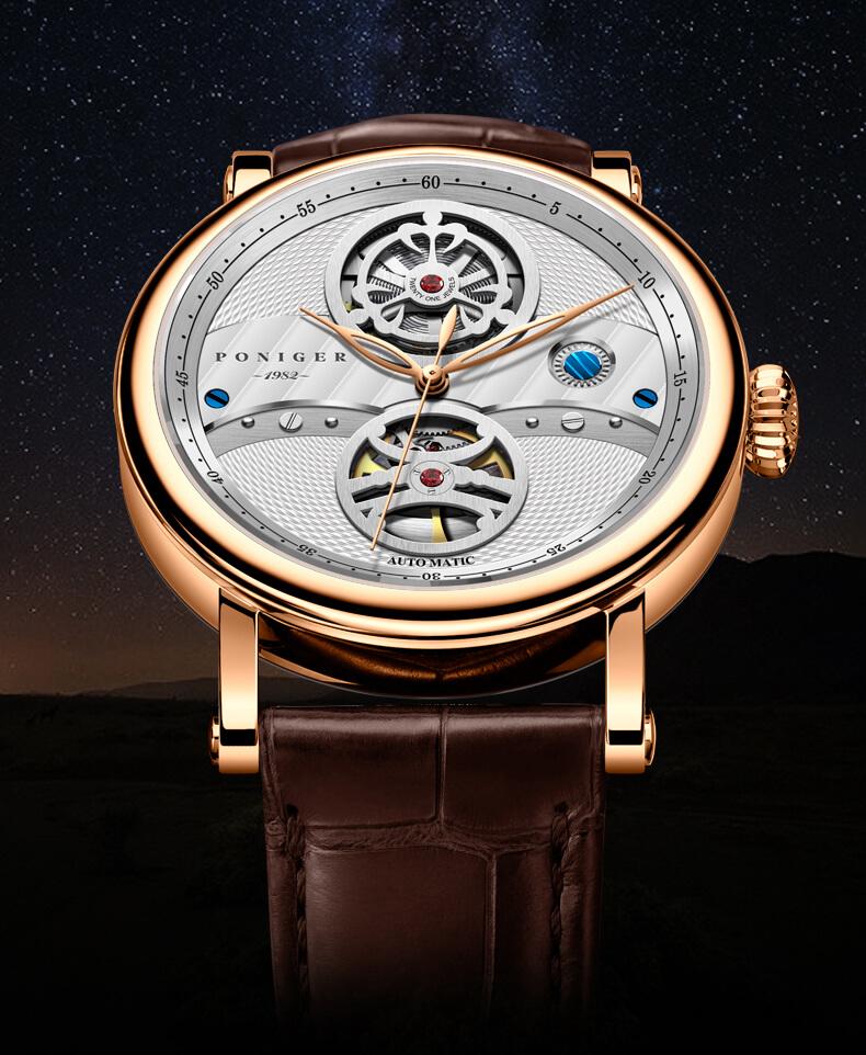 Đồng hồ nam  PONIGER P817-1 Chính hãng Thụy Sỹ