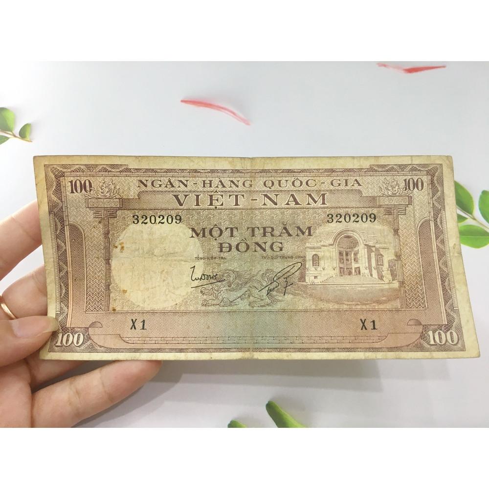 100 đồng nhà hát thành phố, tiền cổ Việt Nam, chất lượng như hình, tặng phơi nylon bảo vệ tiền