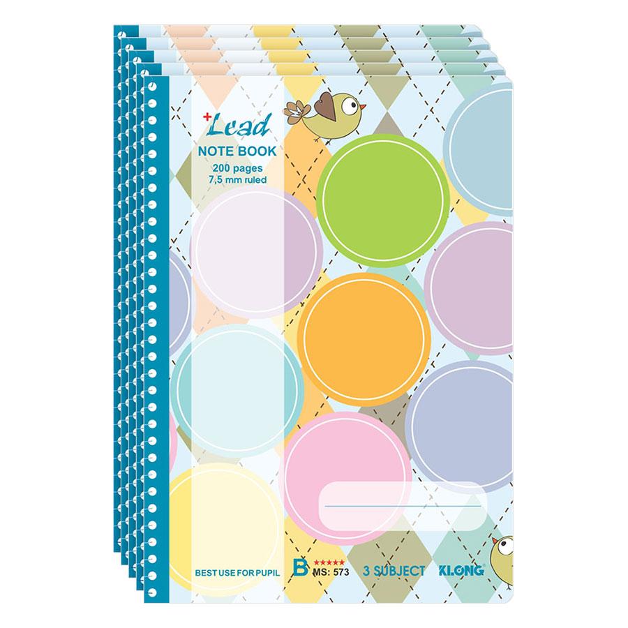 Lốc 5 Tập (Vở) Kẻ Ngang Lò Xo Lead B5 KLONG 573 - 8052646473283,62_980765,85000,tiki.vn,Loc-5-Tap-Vo-Ke-Ngang-Lo-Xo-Lead-B5-KLONG-573-62_980765,Lốc 5 Tập (Vở) Kẻ Ngang Lò Xo Lead B5 KLONG 573
